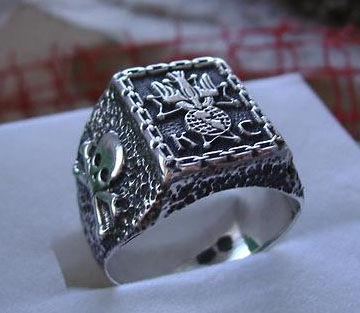 Original AJS  Knights OF Columbus Ring Sterling Silver 925 Degree - S34